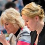 Familienministerin Franziska Giffey und Justizministerin Christine Lambrecht beim SPD Bundesparteitag im City Cube in Be
