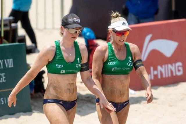 Beachvolleyballerinnen Karla Borger und Julia Sude (Bild: shutterstock.com/Von Mai Groves)
