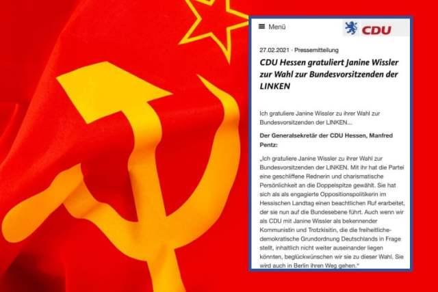 CDU-Hessen gratuliert: (Bild: shutterstock.com/Victor Moussa / Screenshot)