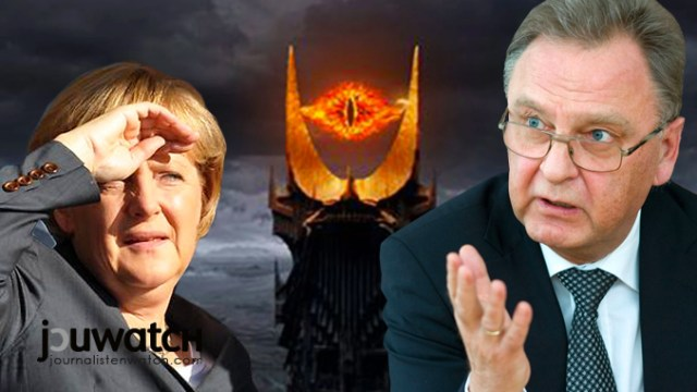 Angela Merkel, das Auge Mordors und Hans-Jürgen Papier; Bild: © jouwatch Collage