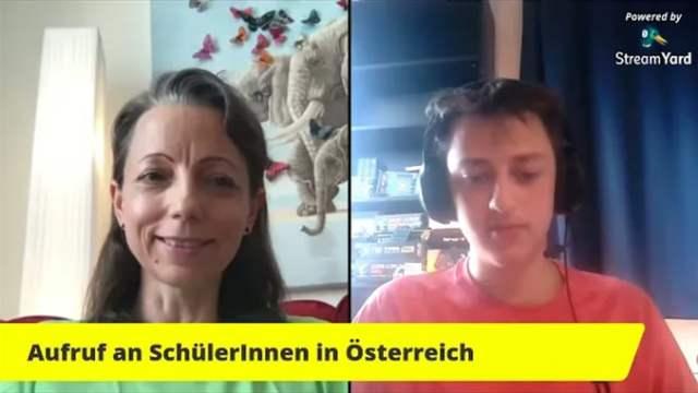 AUFRUF an alle Schülerinnen für Berichte für seine Rede in Mauthausen am 14. Mai ?; Bild: Startbild Youtube