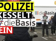 Erfurt: Polizei kesselt Partei DieBasis ein; Bild: Startbild Youtube