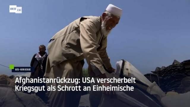 Afghanistanrückzug: USA verscherbelt Kriegsgut als Schrott an Einheimische; Bild: Startbild Youtube