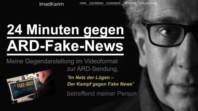 24 Minuten gegen ARD Fake News – Ein Film von Imad Karim; Bild: Startbild Youtube