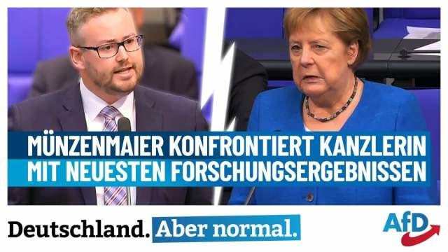Münzenmaier konfrontiert Kanzlerin mit neuesten Forschungsergebnissen!; Bild: Startbild Youtube S. Münzenmaier