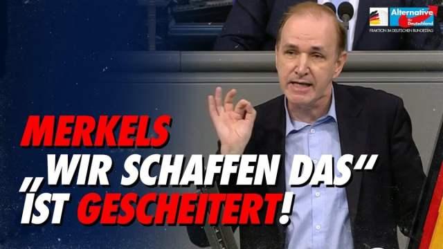 """Merkels """"Wir schaffen das"""" ist gescheitert! - Gottfried Curio; Bild: Startbild Youtube"""