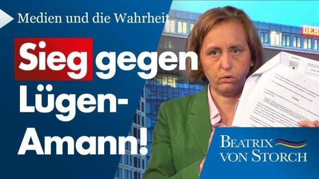 SPIEGEL-Lügen: Relotius ging – aber Melanie Amann macht weiter   Beatrix von Storch; Bild: Startbild Youtube