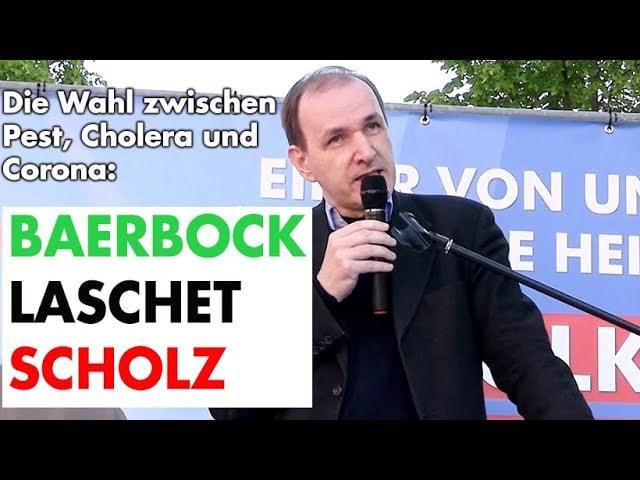 Dr. Gottfried Curio: Abrechnung mit den drei Kanzlerkandidaten; Bild: Startbild Youtube