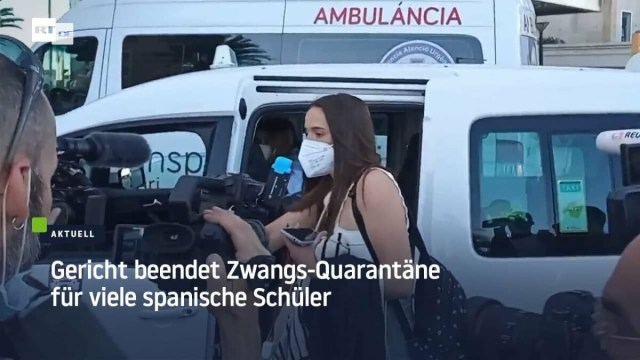 Gericht beendet Zwangs-Quarantäne für hunderte Schüler; Bild: Startbild Youtube RT DE