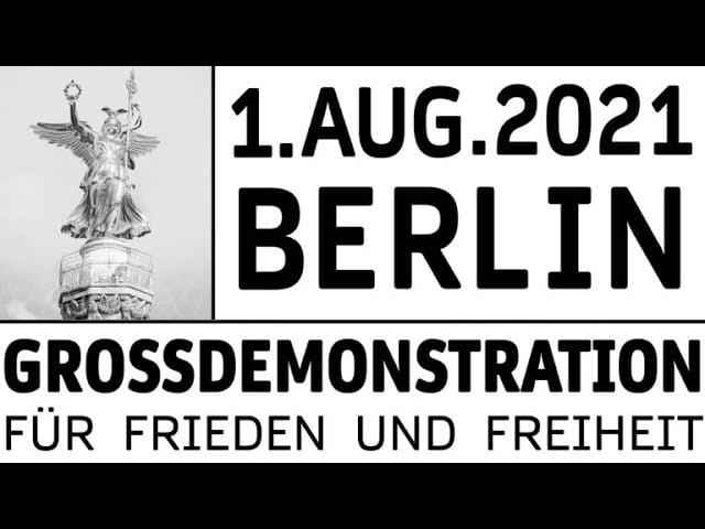 01.08.2021 auf der Straße des 17. Juni in Berlin; Bild: Startbild Youtubevideo