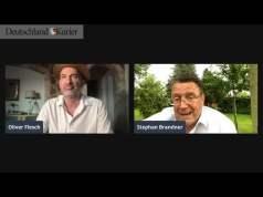 Stephan Brandner (MdB |AfD) berichtet Oliver Flesch von der Verhandlung in dieser Woche.; Bild: Startbild Youtubevideo DK