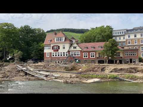 Update zur Flutkatastrophe - Aktuelle Bilder aus Ahrweiler; Bild: Startbild Youtubevideo Rideoak