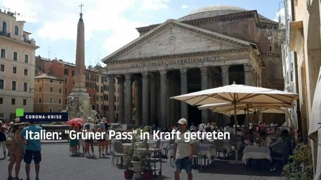 Ohne Nachweis bald keine Schule: Corona-Pass in Italien in Kraft getreten; Bild: Startbild Youtubevideo RT DE
