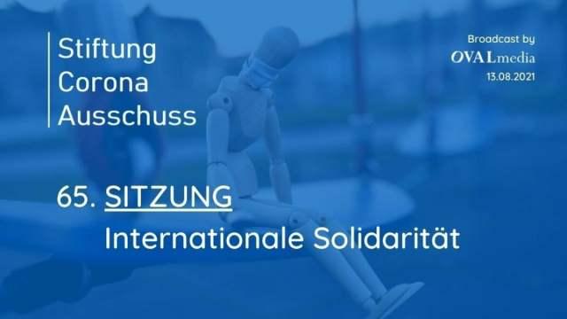 Corona-Ausschuss Sitzung 65: Internationale Solidarität; Bild: Startbild Youtubevideo
