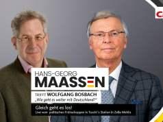 Hans-Georg Maassen trifft Wolfgang Bosbach; Bild: Startbild Youtubevideo TV.Berlin - Der Hauptstadtsender