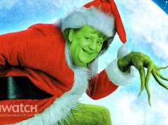 Merkel als Grinch; Bild: Collage