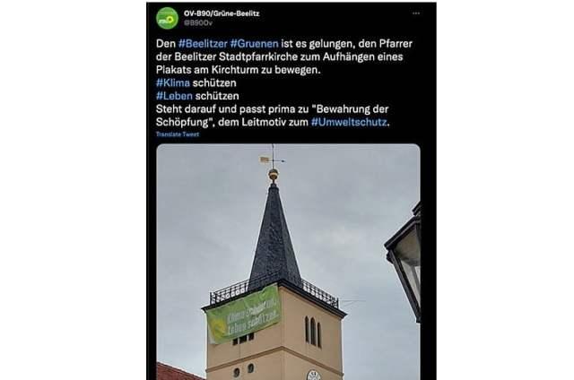Screenshot: Twitter/ OV-B90/Grüne-Beelitz