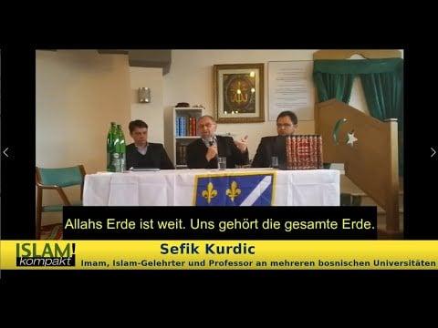 Skandal-Predigt in Moschee Vöcklabruck; Bild: Startbild Youtubevideo BPE