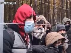 Migranten an Polens Grenze; Bild: Screenshot Aljazeera