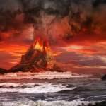 Volcano,Eruption,On,The,Sea