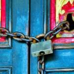 Chain,Rustic,Door,Closed,Padlock,Monastery