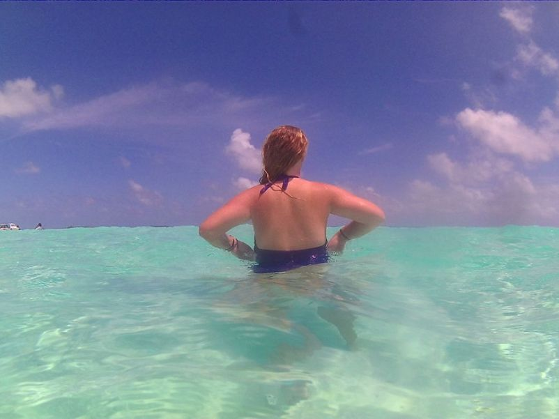 water in the Maldives