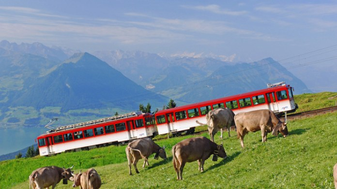 Train around Switzerland