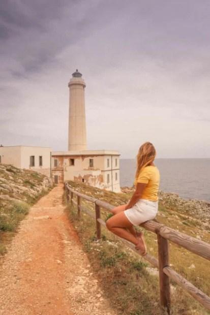 lighthouse in Otranto puglia