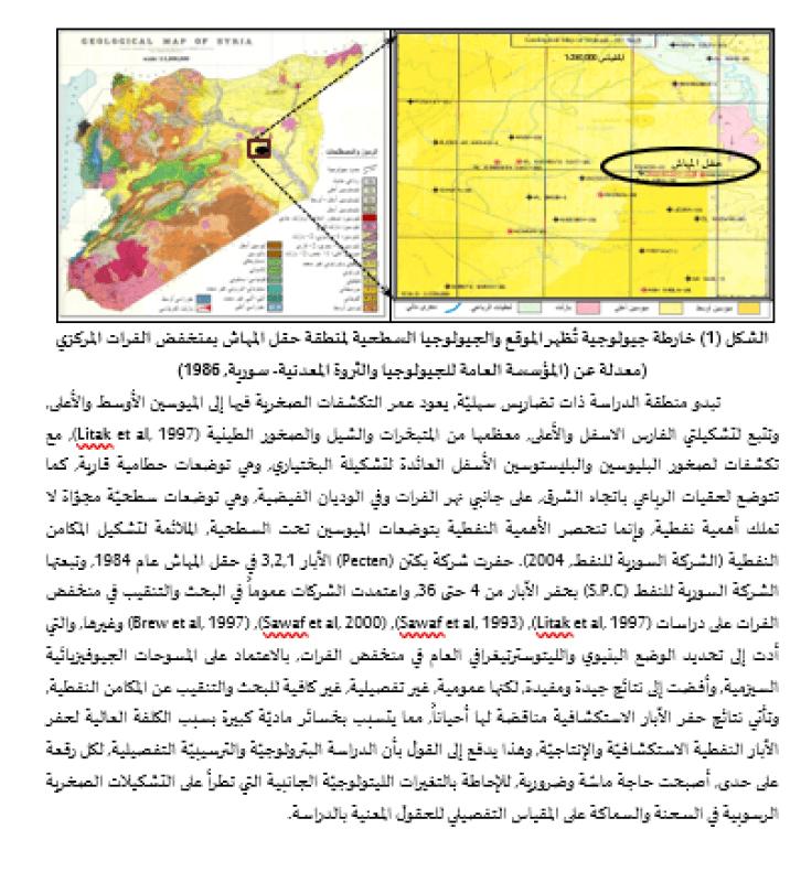 السحنات الرسوبية الرئيسة في تشكيلات الميوسين وعلاقتها بإنتاج النفط في منخفض الفرات المركزي