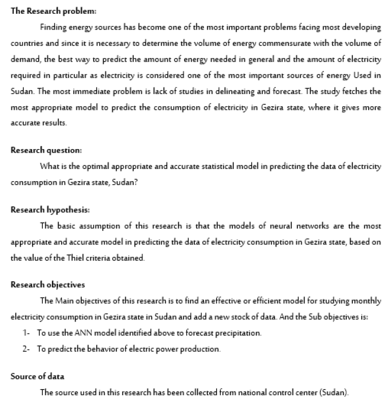 Application of Artificial Neural Networks Model for Forecasting Consumption of Electricity in Gezira State, Sudan (2006-2018)