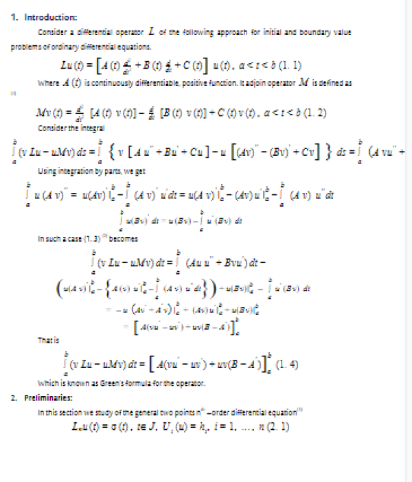 The Green's Function Method Solutions to Solve of nth -order Linear Differential Equations