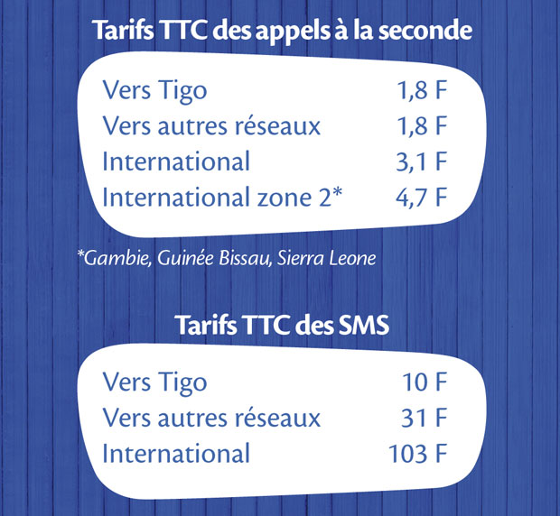 Tarifs Tigo
