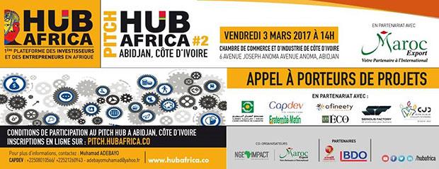 ABIDJAN accueille pour la deuxième fois le PITCH HUB AFRICA ce vendredi 03 mars 2017 à la Chambre de commerce et d'Industrie d'Abidjan.