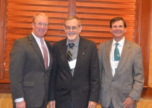 Tad Brown, Earl Hess, and Dan Sutherland at the awards dinner, courtesy of the Society of Civil War Historians.