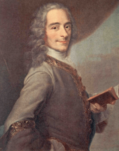 "Voltaire with book, sans ""bucket of black snakes"""