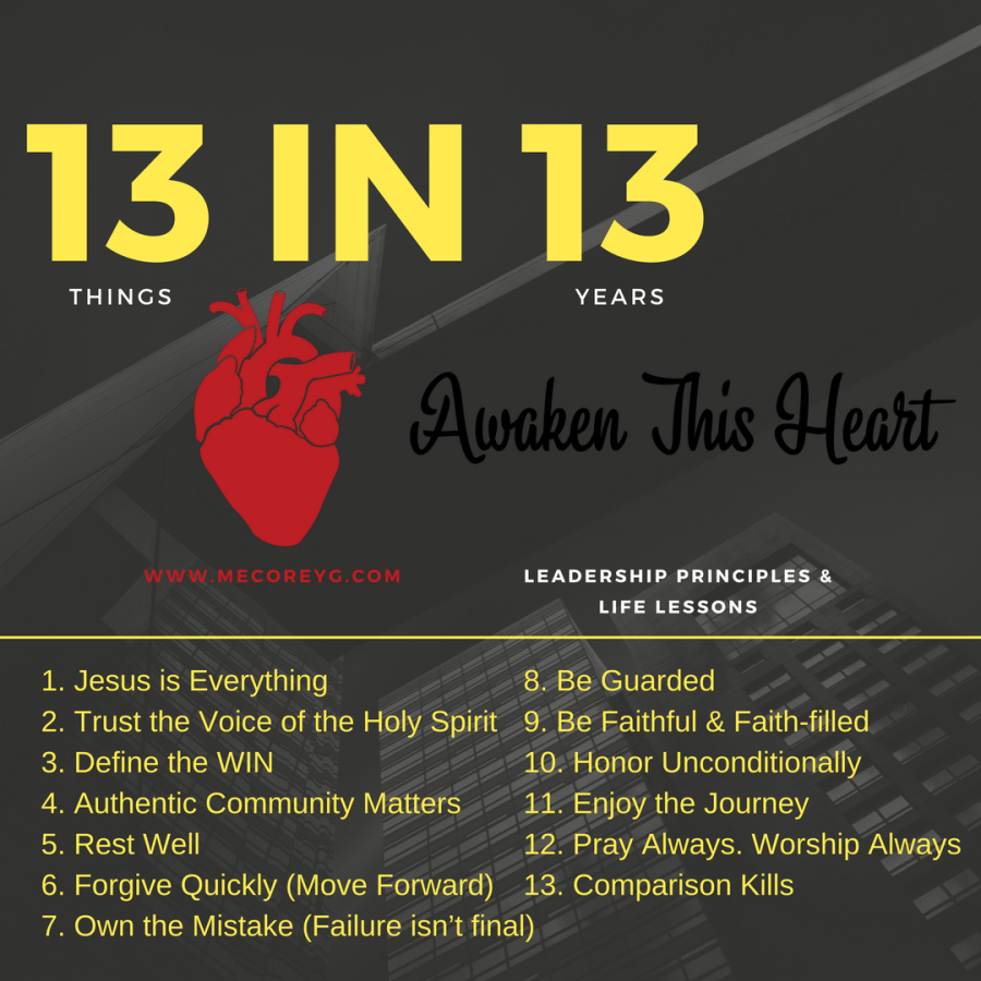 13 things in 13 years... Leadership & Life
