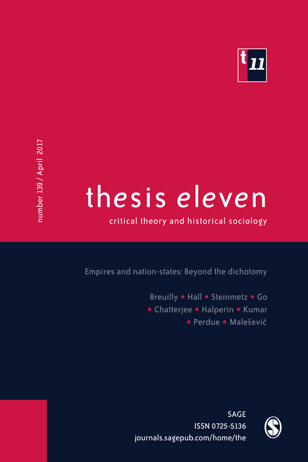 Cover image for latest issue of Thesis Eleven