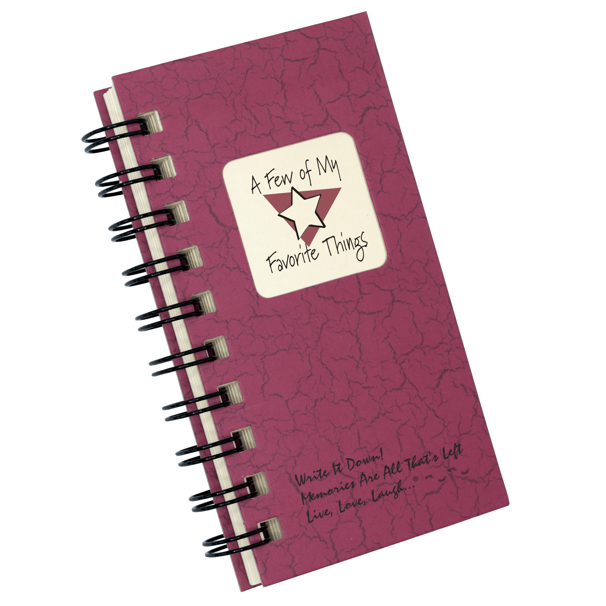 A Few Of My Favorite Things Mini Journal Cranberry