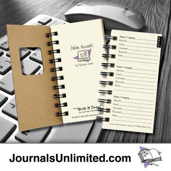 Online Accounts My Password Journal mid-19
