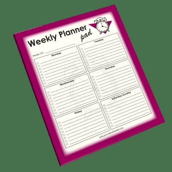 Weekly Planner Jumbo Notepad