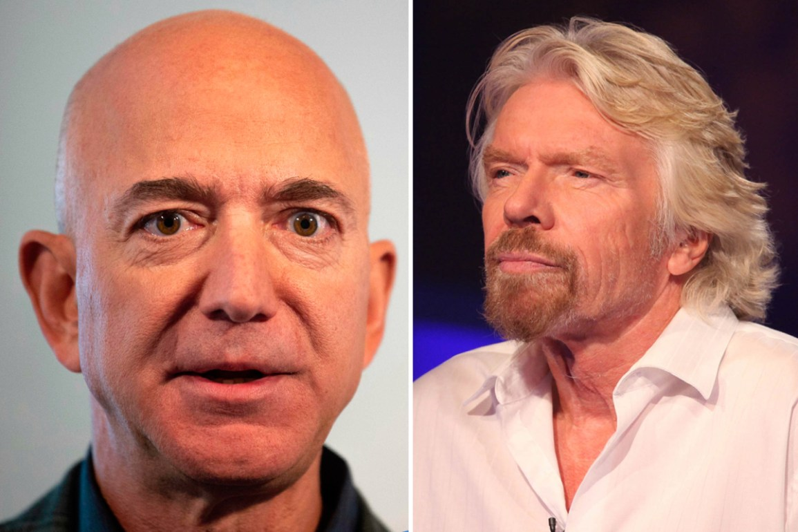 Richard Branson steals the glory from Jeff Bezos and will travel