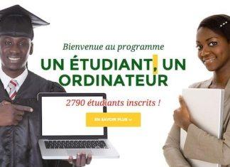inscription au programme un étudiant un ordinateur