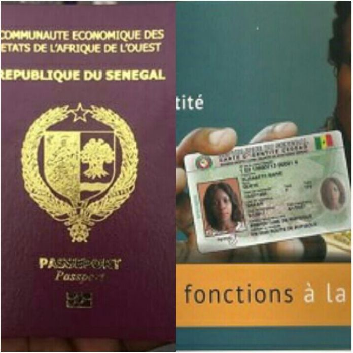 Carte biométrique CEDEAO et passeport