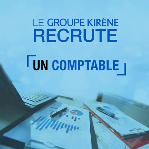 Le Groupe KIRÈNE recrute un comptable