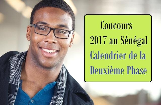 deuxième phase des concours 2017 au Sénégal