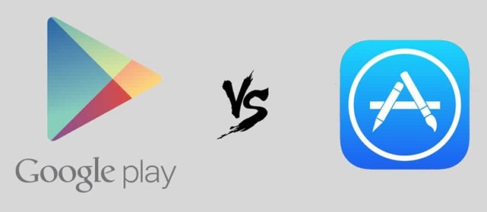Google Play Store contre App Store