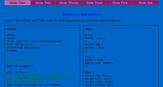 CSS Controlled Navbar Tab Highlights