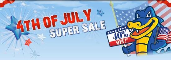 Hostgator 4th of July Super Sale