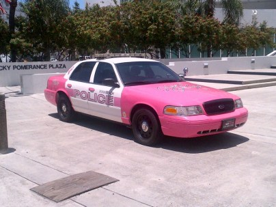 Pink Cop Car on Lincoln Road, Miami