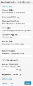 Facebook Friends Inviter Widget for WordPress